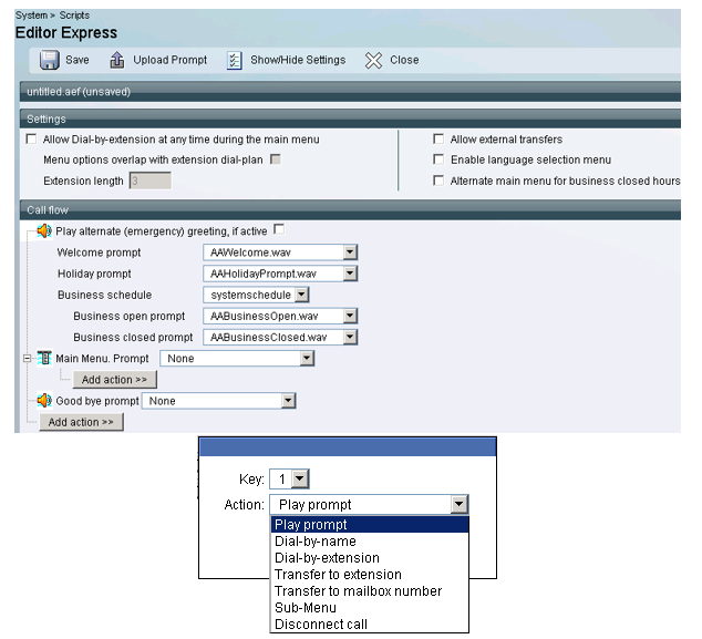 Auto attendant implementation based on Cisco solutions