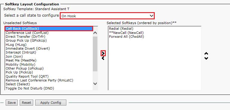Configuring Callback feature in CUCM