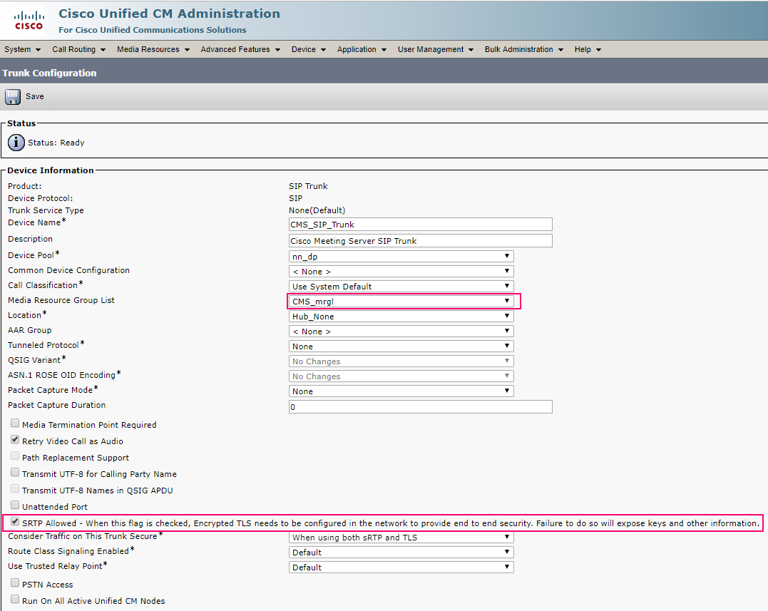 Integration of Cisco Meeting Server with CUCM 11 – PART 3