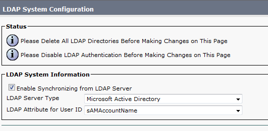 Integrating CUCM and Active Directory