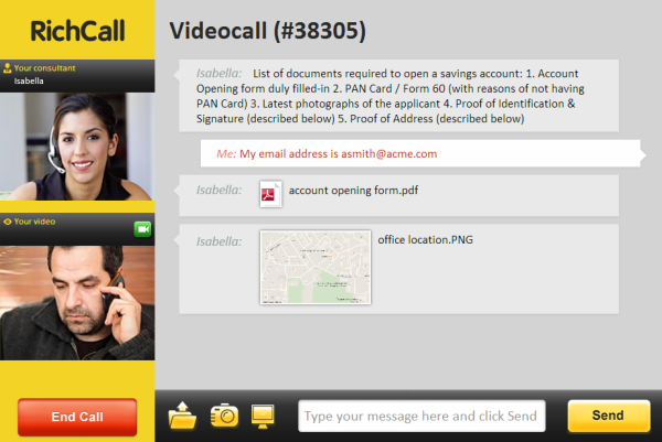 RichCall video call